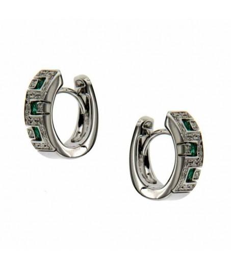 Orecchini Diamanti Smeraldi