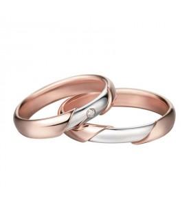 Fede Oro Bianco e Rosa