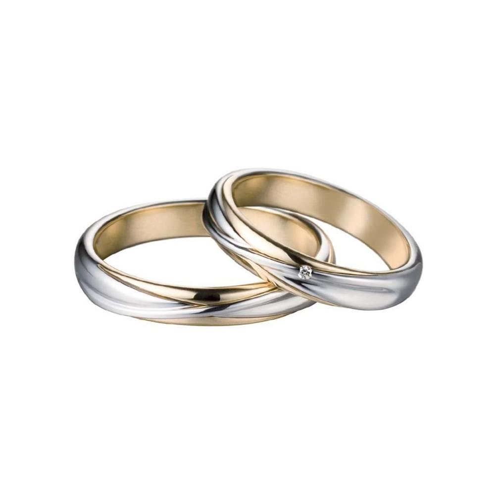più foto bf059 7e23d Fede Oro Bianco e Giallo