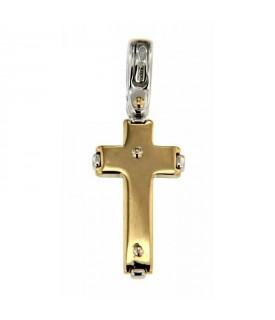 Ciondolo Croce Oro Diamanti