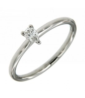 Anello Solitario Diamante Goccia 0,15 ct