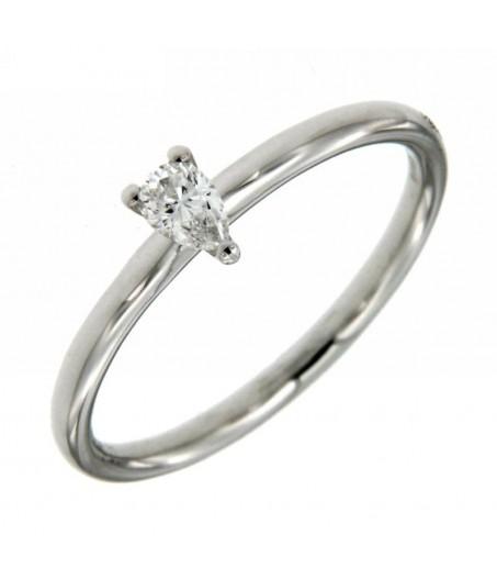 Anello Solitario Diamante Goccia 0,15 ct