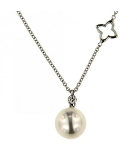 Collana Diamante 0,03 ct Perla 7mm