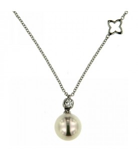 Collana Diamante 0,08 ct Perla 8mm