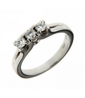 Anello Trilogy Diamanti 0,40 ct