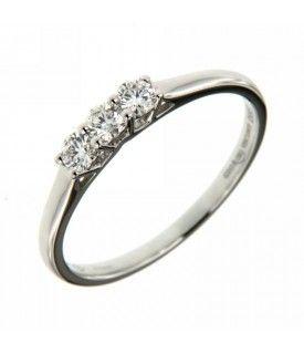 Anello Trilogy Diamanti 0,30 ct