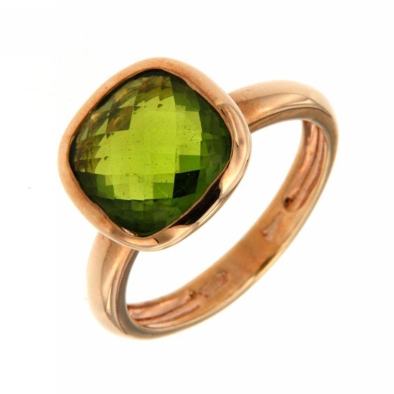 Anello in Argento con Tormalina Verde
