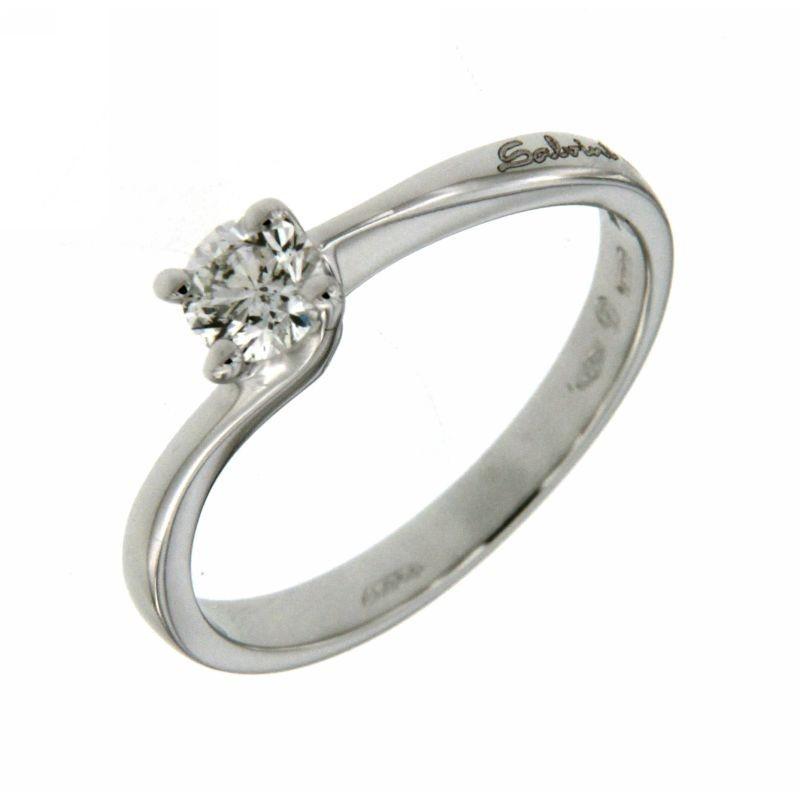 Anello Solitario con diamante 0,32ct
