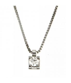 Collana con Diamante 0,18 ct