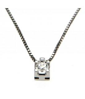 Collana con Diamante 0,22 ct