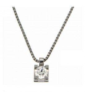 Collana con Diamante 0,25 ct